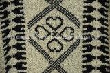 女性によって編まれるアズテック派のポンチョのセーターの冬の衣服