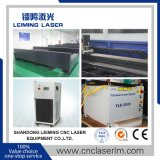 Machine de découpage de laser de fibre de commande numérique par ordinateur de plaque d'acier inoxydable de Jinan