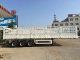 2台の半車軸障壁の貨物トレーラー