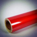 Cor vermelha que anuncia o tipo película reflexiva autoadesiva do animal de estimação da classe