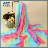 Женщин Сублимация моды шифон шелк долго Без шарфа Скрыть Изображения шарфы