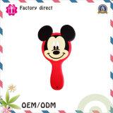 Mode personnalisée d'OEM de logo et beau miroir de main ronde d'usine de la Chine