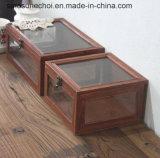 Contenitore di regalo semplice non finito di legno di pino con il marchio di Customzied