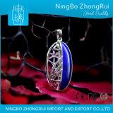 Шкентель ювелирных изделий Lazuli Lapis стерлингового серебра 925 и орхидея Serie 1 Earings