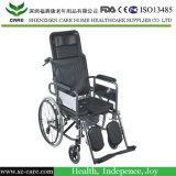 معياريّة يطوي ألومنيوم [كمّود] كرسيّ ذو عجلات