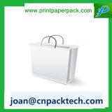 Cadeaux Shopping Cmyk Printing Ribbon Handle Kraft Paper Bag