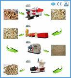 Alimentação de fábrica madeira completa linha de pelotas com marcação CE