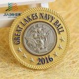 Médaillon fait sur commande en alliage de zinc militaire en bronze antique de souvenir en métal 3D (JIABO-1012)