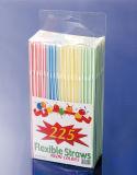 Lebensmittelklassen-pp.-Material 225PCS Belüftung-Kasten gepackte flexible Strohe (JY416)