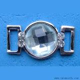 L'inarcamento del pattino del metallo del trivello di Zircon della decorazione del Rhinestone parte gli accessori dell'indumento