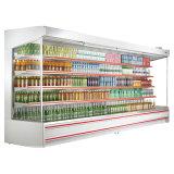 Koelere Diepvriezer van de Vertoning van Multideck van de supermarkt de Open met de Verre Eenheid van de Compressor