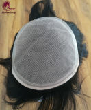 Toupee svizzero del merletto della parte dei capelli degli uomini bassi di seta del merletto con l'unità di elaborazione rotonda