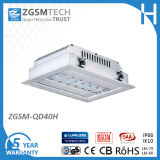 Montadas en Superficie 40W Empotrables LED para Iluminación de Gasolinera