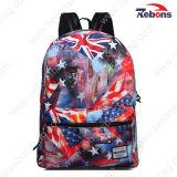 Способ Printed Canvas Satchel Bag Daypack Backpack для Hiking, Travelling