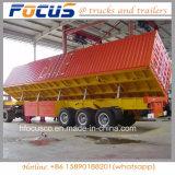 Drei Wellen 70 Tonnen-Seiten-Kipper-Kipper-Dienst-LKW-Schlussteil für Kies-Transport