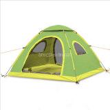 Grünes kampierendes Großhandelszelt, wasserdichtes im Freien 3 Mann-Zelt