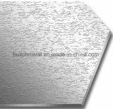 Ligne courte plaque de pression gravée en relief par cristal d'acier inoxydable