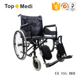 Disabled를 위한 Topmedi Economic Manual Steel Elevating Legrest Wheelchair
