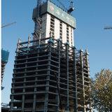 プレハブの鉄骨構造の高層ビル
