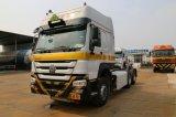 中国Sinotruck HOWOの大型トラック6X4 CNGのトラクター(天燃ガスのトラック)