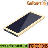 Banco portuário múltiplo portátil ultra fino da potência do carregador do telefone da célula solar de RoHS