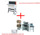 전기 무겁 의무 Punch Machine와 Double Wire Binding Machine