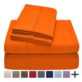 4部分シートの枕カバーは1600のシリーズによってブラシをかけられたMicrofiberの寝具シートセットをセットした