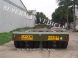 60t 10.5m 4 rimorchio del camion del carrello ferroviario Lowdeck/Lowbed/Lowloader dell'asse semi