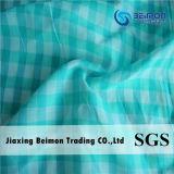 9mm: o fio de 25%Silk 75%Cotton tingiu a tela verific para a camisa