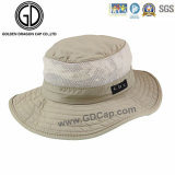 Cappello impermeabile verde classico della benna della chiusura lampo del pescatore di Camo con la casella