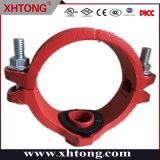 Raccordi meccanici a T/tubo/tubo/tubo con uscita scanalata in ferro zincato/verniciato FM UL