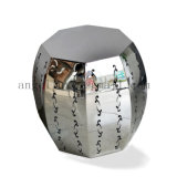 良質のホーム装飾のステンレス鋼の家具の花つぼは芸術の棚に棚に置く
