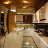 Neuer Entwurfs-Küche-Schrank mit Metallhöhepunkt-Farbanstrich