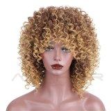 Maagdelijke Haar van de Kleur van de Krul van Afro van de Pruik van het menselijke Haar het Kroezige Blonde