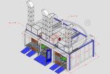 Lack-Stand des Zoll-kombinierter Spray-Wld9300 und Wld-PS-B3 (CER) und Vorbereitungs-Station