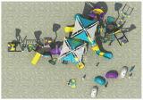 Campo de jogos plástico comercial do supermercado favorito das crianças da série Kq60015A da navigação do mar de Kaiqi