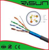 Cable de la red de cable del ftp Cat5e con la certificación de la ISO ETL del Ce/RoHS/