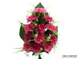 인공 적이고 Plastic/Silk Flower Carnation Lying 부시 (2812005F)