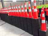 Road Safety PVC Flexible Traffic Cone Cold-Resistant No Fading