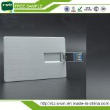 3.0 de Flits USB drijft het Zilveren Metaal USB van de Kaart van de Naam