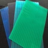Feuille de polycarbonate creux de 6 mm pour la vente à effet de serre