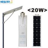 Tudo em um fabricante solar dos fornecedores da iluminação do diodo emissor de luz da rua