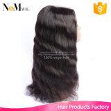 Peruvian Human Hair Clip Lace Front U Parte Wigs Half Machine Made & Half Hand Tied Made Método, 125g-225g Cabelo para fazer perucas