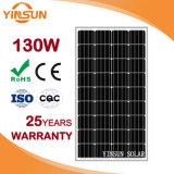 PVシステムのための130W太陽電池パネル