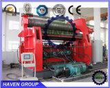W12S-30X4000 4 Chapa de aço do cilindro de dobramento e máquina de laminação