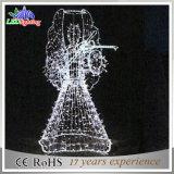 Lumière blanche de décoration de Noël de rue de décoration de cornière en métal de CE/RoHS