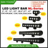 5pouce 8pouce 15pouces 28,5 pouces 22pouces 37pouce 47pouces simple rangée populaire bar lumineux pour LED CREE LED Bar Barre de lumière