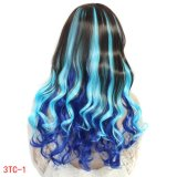3 Colors Mixedの大きいWave Synthetic Hair Cosplay Wig