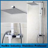 Badezimmer-Luxuxregen-Mischer-Dusche-kombiniertes Set-polierte an der Wand befestigtes Niederschlag-Dusche-Kopf-System Chrom verborgenes Dusche-Set