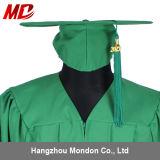 Vert vert vert de Kelly de chapeau de graduation de lycée